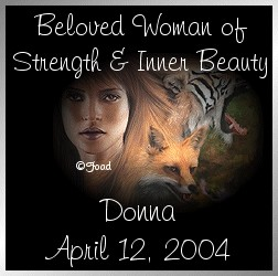 Beloved Woman of Strength and Inner Beauty: Donna